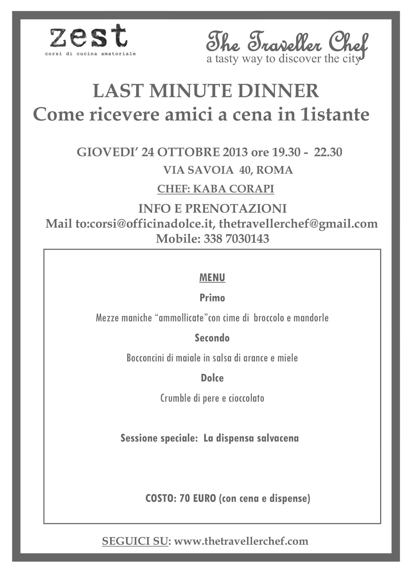 spesso Invito a cena last minute | Kaba's Kitchen MA21